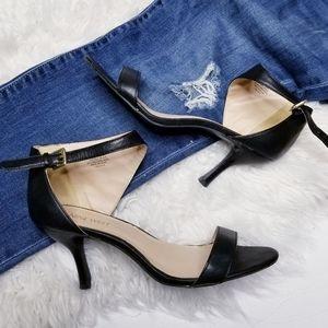 Nine west open toe kitten heels